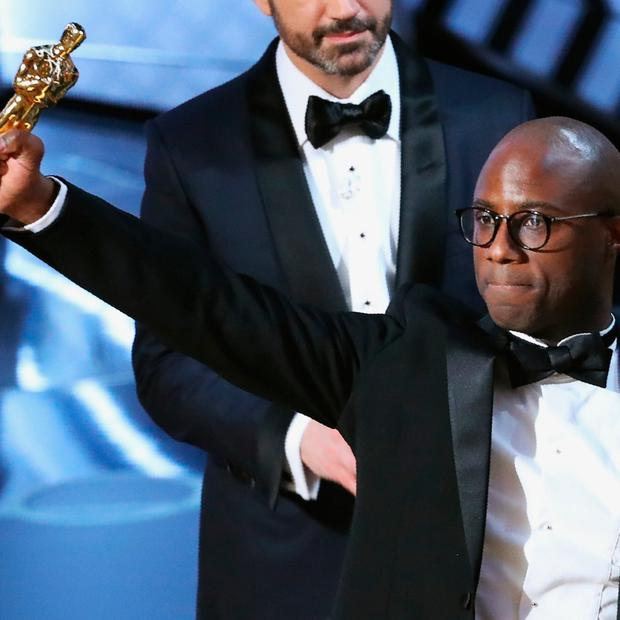 89th Academy Awards - Oscars Awards Show - Hollywood, California, U.S. - 26/02/17 - Director Barry Jenkins holds the Oscar as Moonlight wins Best Picture. REUTERS/Lucy Nicholson