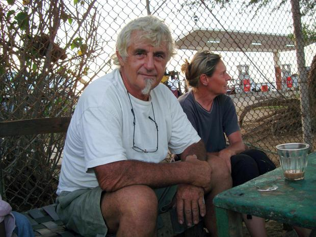 Jurgen Kantner and his wife Sabine Merz, who is thought to have been murdered AFP