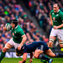 Sean O'Brien of Ireland is tackled by Remi Lamerat of France on Saturday