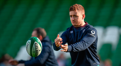 Paddy Jackson may not have started on Saturday but he is clearly trusted by his coach. Photo: Seb Daly/Sportsfile