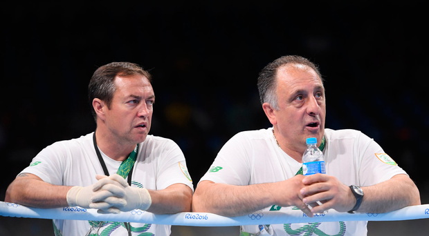 Eddie Bolger, left, and Zaur Antia in Rio