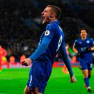 Jamie Vardy: 'We've come under a lot of unfair stick with the stuff that's been in the press lately, and the lads wanted to put a reaction in.' Photo: Michael Regan/Getty Images