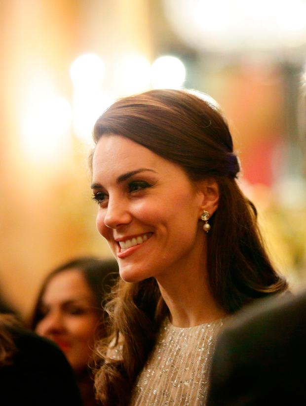 Catherine, Duchess of Cambridge attends a reception to mark the launch of the UK-India Year of Culture 2017 on February 27, 2017 in London, England. (Photo by Yui Mok - WPA Pool/Getty Images)
