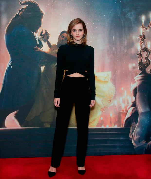 Emma Watson during a photo call with the cast of Beauty and the Beast, at The Corinthia Hotel, London. PRESS ASSOCIATION Photo. Picture date: Friday February 24, 2017. Photo credit should read: Yui Mok/PA Wire