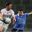 11 February 2017; Sean Cavanagh of Tyrone in action against Kevin McManamon of Dublin during the Allianz Football League Division 1 Round 2 match between Dublin and Tyrone at Croke Park in Dublin. Photo by Sam Barnes/Sportsfile