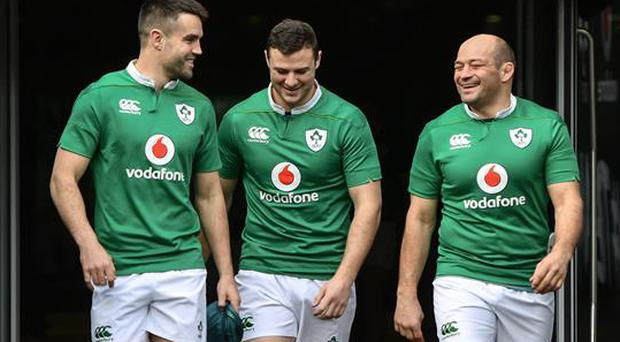 Conor Murray (left) and Rory Best (right) are in contention to captain the Lions.