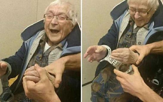 Grandma Annie wanted to be arrested before she died Credit: Politie Nijmegen-Zuid/Facebook