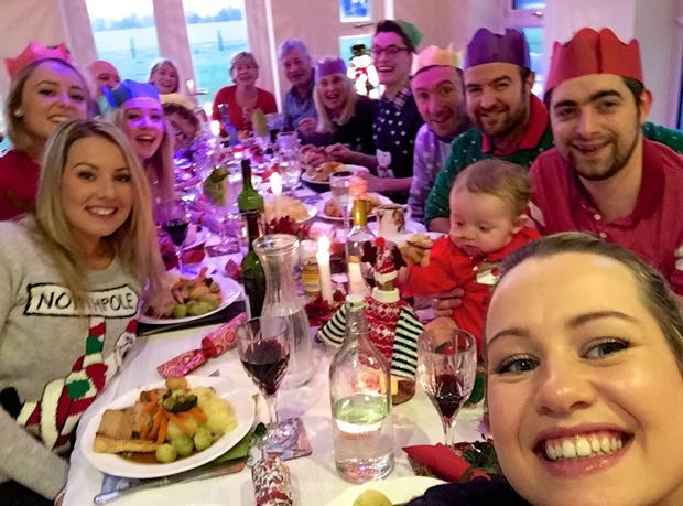 James celebrates an early Christmas in November 2014, ahead of his second bone marrow transplant.