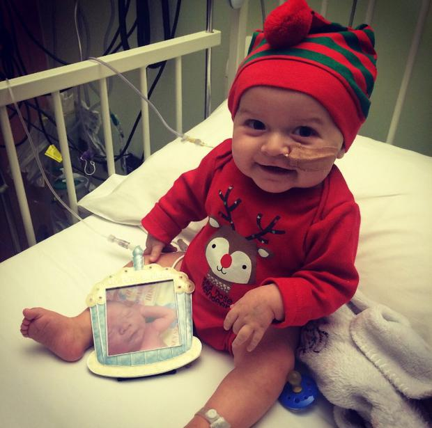 James celebrated his first birthday in Crumlin Children's Hospital days after his first bone marrow transplant, which later failed.