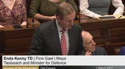 Taoiseach Enda Kenny delivers his speech recognising the ethnic status of Irish Travellers.