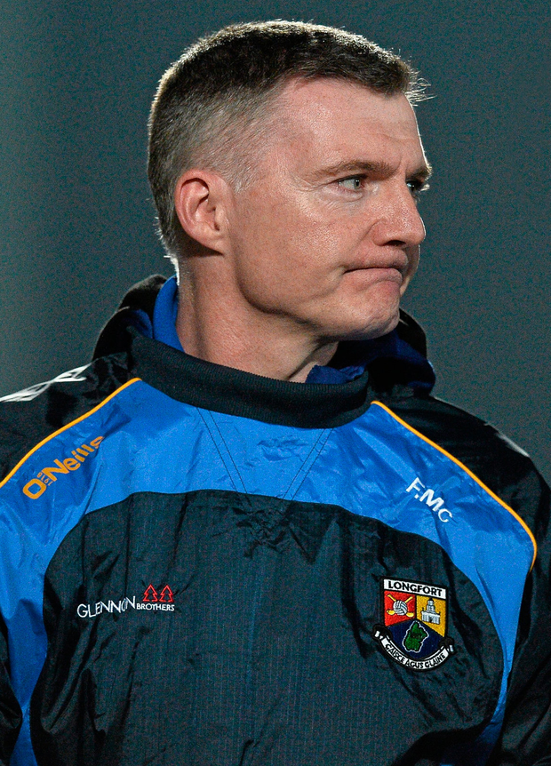Longford manager Frank McNamee. Photo: David Maher/Sportsfile