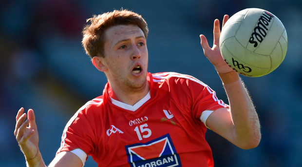 Senior star Ryan Burns kicked a couple of good scores for Louth. Photo: Matt Browne/Sportsfile