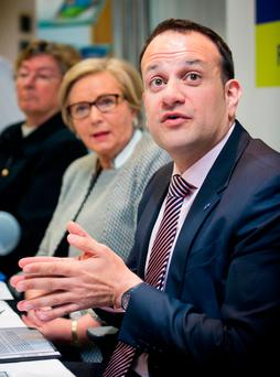 Leo Varadkar has backed Simon Coveney on the issue – and is keen to avoid the row sparking a general election. Photo: Collins