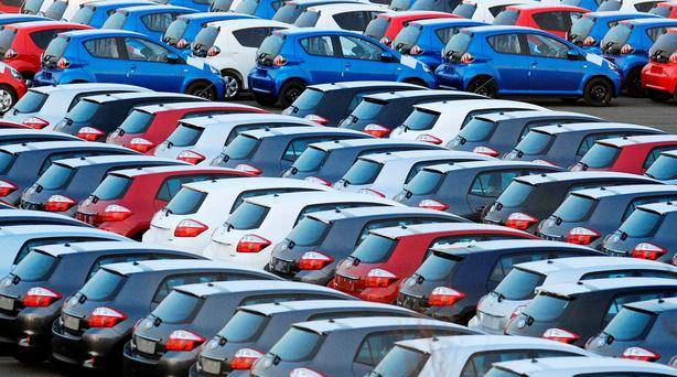 Sales of new cars in February dropped by 21pc compared with the same period last year. Stock photo: PA