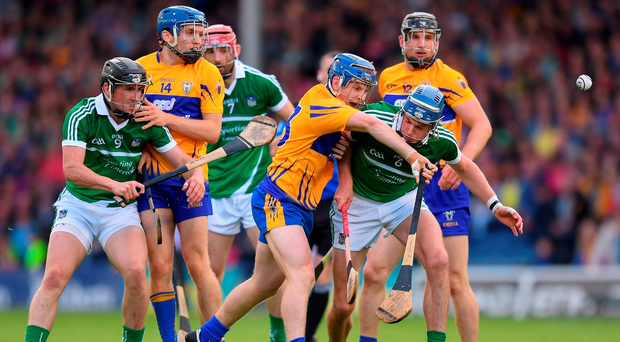 It is the second time in 12 months that a Championship encounter between Clare and Limerick will be shown exclusively by the English broadcasters. Photo by Stephen McCarthy/Sportsfile