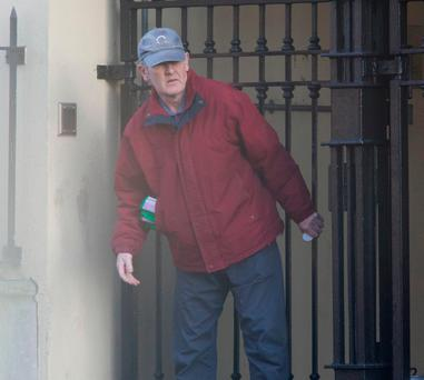 Paul Moore pictured leaving his Mountjoy Square home