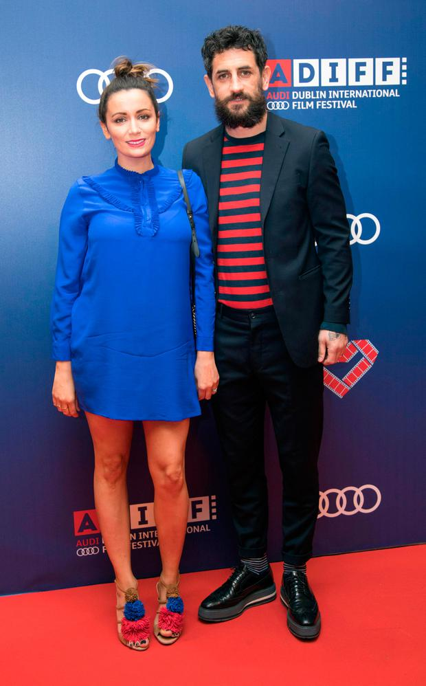 Louise Duffy & Paul Galvin walk the red carpet at the Gala Irish premiere of The Handsome Devil as part of the Audi Dublin International Film Festival at the Savoy Cinema. Picture: Fergal Phillips