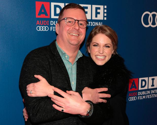 Director John Butler and Amy Huberman pictured at the Audi Dublin International Film Festival closing night gala screening of Handsome Devil at The Savoy Cinema in Dublin. Picture: Brian McEvoy