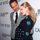 Actors Thomas Sadoski (L) and Amanda Seyfried at the premiere of Bleecker Street Media's