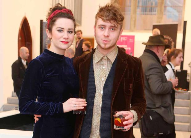 Aoibhin Murphy and James Traynor at the Medieval Mile Museum, Kilkenny during the launch of the Kilkenny Whiskey Guild. Picture: Leon Farrell / Photocall Ireland.