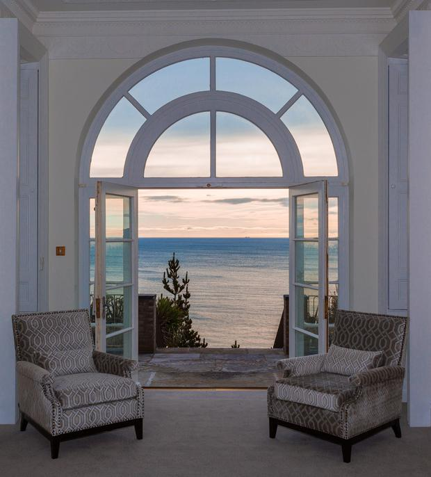 The view of Killiney Bay from a bay window in Gorse Hill