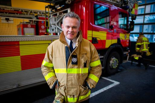 Donal Petherbridge, District Officer, Dublin Fire Brigade, C-Watch. Photo: Douglas O'Connor.