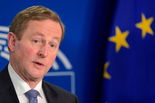 Mr Kenny played down the issue when speaking in Brussels. REUTERS/Eric Vidal