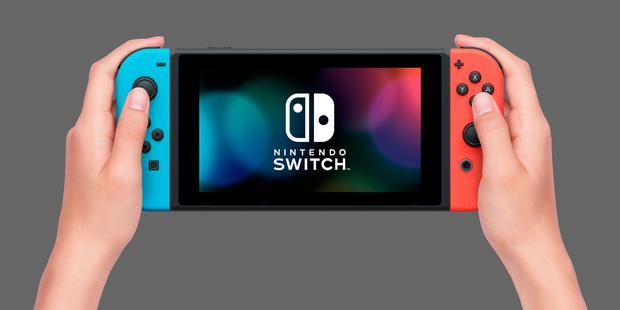 The Nintendo Switch in portable form