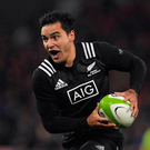 James Lowe of Maori All Blacks during the match between Munster and the New Zealand Maori All Blacks at Thomond Park