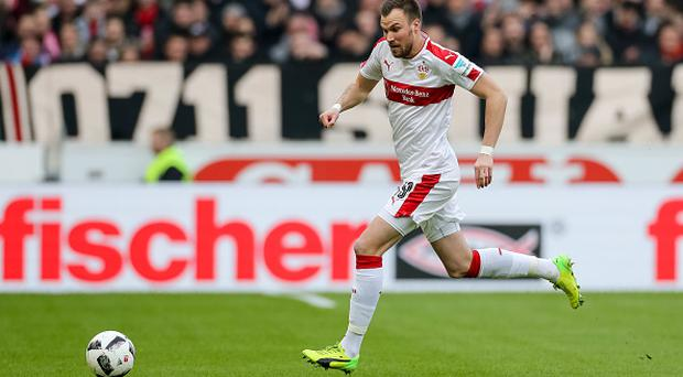 STUTTGART, GERMANY - FEBRUARY 12: Kevin Grosskreutz of Stuttgart controls the ball during the Second Bundesliga match between VfB Stuttgart and SV Sandhausen at Mercedes-Benz Arena on February 12, 2017 in Stuttgart, Germany. (Photo by TF-Images/Getty Images)