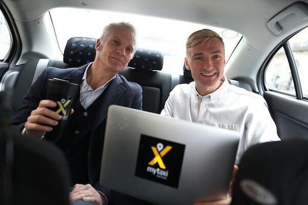 CEO mytaxi Andrew Pinnington and General Manager in Ireland, mytaxi, Tim Arnold