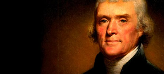 Accomplished: Thomas Jefferson played the violin from a young age