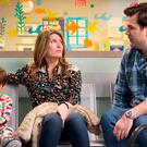 That's gotta hurt: There are some biting one-liners between Sharon and Rob in Catastrophe, but can it last for another full season?