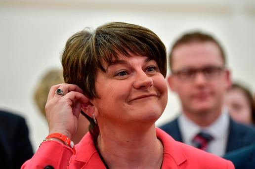 Arlene Foster: DUP leader is on the defensive as Sinn Féin under leader Michelle O'Neill will play a 'wait and see' game (Photo by Charles McQuillan/Getty Images)