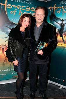Mario Rosenstock with his wife Blathnaid. Photo: Arthur Carron/Collins