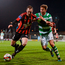 Derek Pender of Bohemians in action against Ronan Finn of Shamrock Rovers. Photo by Seb Daly/Sportsfile