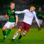 Colm Horgan of Galway United in action against Stephen Dooley of Cork City