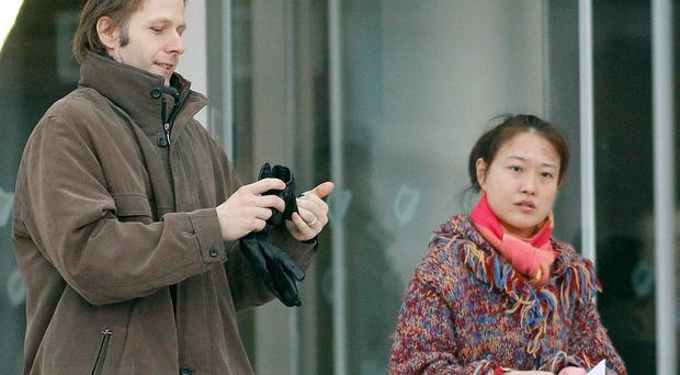 Daniel Belling and Xing Lei Li leave court in Dublin in 2011 Photo: Kyran O'Brien