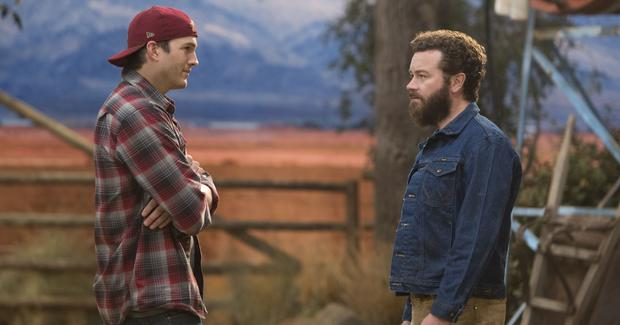 Ashton Kutcher, left, and Danny Masterson, right, in 2016's The Ranch on Netflix