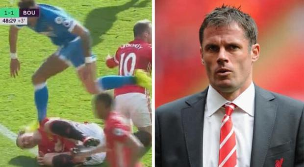 Jamie Carragher said Tyrone Mings 'deserved a slap' for the clash CREDIT: GETTY IMAGES