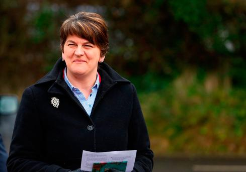 Arlene Foster, Leader of the Democratic Unionist Party. Photo: Brian Lawless/PA Wire