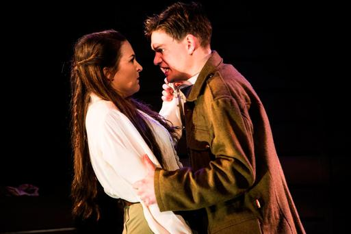 Futility of war: Katie O'Kelly and Ethan Dillon star in the new production of Ledwidge which is currently showing at The New Theatre. Photo: Alan Craig