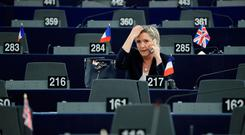 Isolated: Marine Le Pen, the leader of the French National Front party, will try to take France out of Europe if she wins the presidential election, which is looking increasingly unlikely. Photo: Reuters