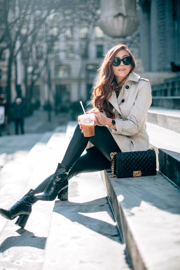 Ambitious: Erika Fox has built her own fashion blogging empire using social media platforms