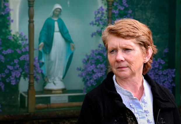 Historian Catherine Corless at the burial ground