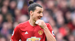 Manchester United's Zlatan Ibrahimovic. Photo: Getty Images