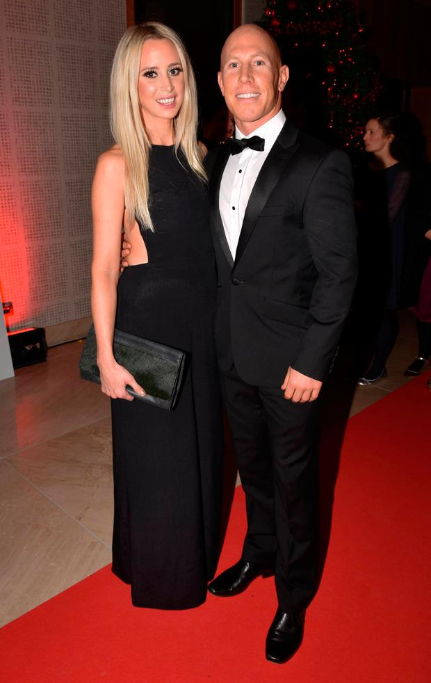Peter Stringer and Debbie O'Leary at the Bord Gais Energy Irish Book Awards 2015