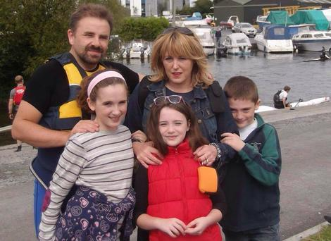 The O'Donohue family, Eamonn and Sharon together with their kids Sarah (14) and twins Alex and Lucy (12)