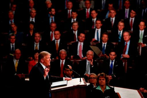 US President Donald Trump addresses a joint session of Congress. Photo: Win McNamee/Getty Images. Photo: Win McNamee/Getty Images
