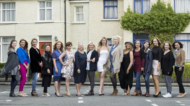 The female members of the cast of Ireland's most popular soap Fair City gathered together to celebrate its 4000th episode. Picture Andres Poveda